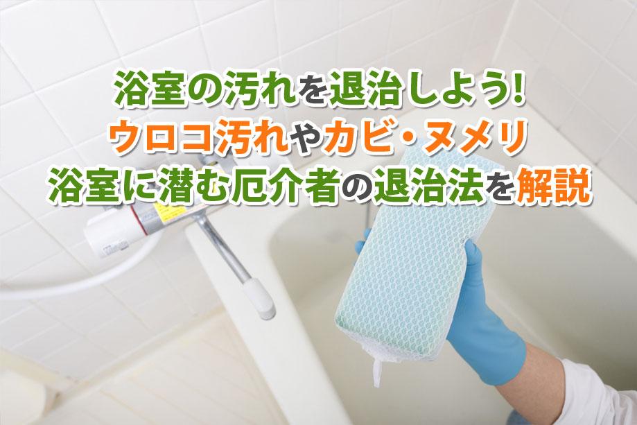 浴室の汚れを退治しよう!ウロコ汚れやカビ・ヌメリ。浴室に潜む厄介者の退治法を解説
